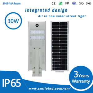 30W Outdoor All in One Solar Integrated Street Lamp LED Street Light