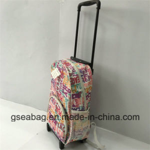 High Quality Drawbar Trolley and Backpack Multi Function Wheeled Duffel School Kid Bag (GB#10008-1) pictures & photos