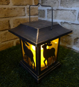 Small 4 Sided Mold - Gold Finish Ledlantern Lamp