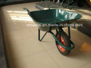 Strong Green Metal Tray and Frame Pneumatic Wheel Wheelbarrow (Wb6200) pictures & photos