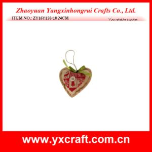 Christmas Decoration (ZY16Y136-10 24CM) Christmas Heart Shape Christmas Decoration pictures & photos
