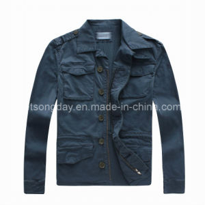 Jasper Cotton Spandex Men′s Casuall Jacket with Button (CF002) pictures & photos