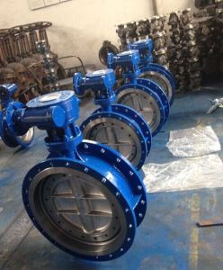 ANSI/ASTM Wcb Flanged Butterfly Valve with Gear Operated D343h-150lb pictures & photos