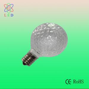 led christmas light bulb g50 white plastic cover faceted