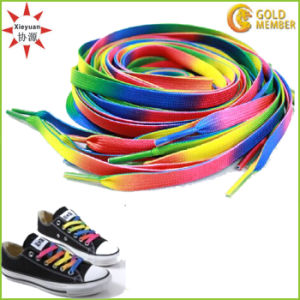Polyester Cheap Custom Logo Shoelaces pictures & photos