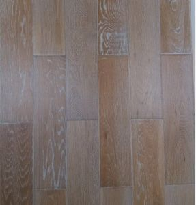 Brushed White Vein Solid Wood Parquet / Wooden Flooring