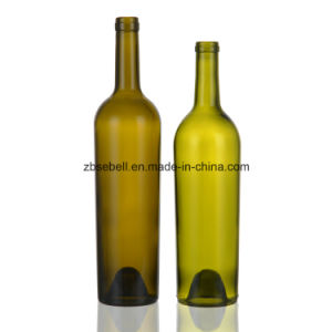 Cork Top Taper Wine Bottle 750ml Green Glass Bottle pictures & photos