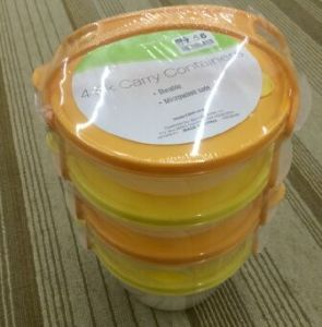 Plastic Food Bowl Sets with Lid Storage Box