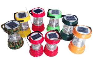 Solar LED Camping Lantern Lamp Light Double Solar Panels pictures & photos