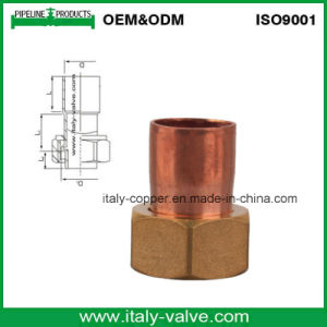 Customized Quality Copper Fitting with Brass Cap (AV8008) pictures & photos