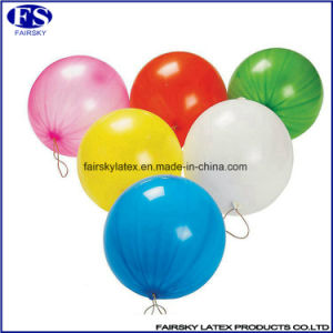 Top Quality Latex Punch Balloon with Rubber Band pictures & photos
