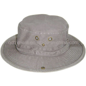 Brushed Pigment Dyed Cotton Twill Leisure Fishing Bucket Hat (TMBH0001-1) pictures & photos