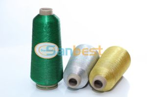 Silver Metallic Embroidery Thread with Polyester or Rayon Core Yarn pictures & photos