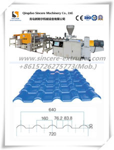 PVC Roofing Sheet Making Machine Plant Extruder Production Machine Extrusion Line pictures & photos