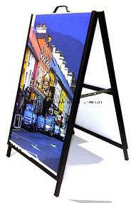 "Intecel Metal a-Frames Shape Sandwich Advertising Corflute Insertable Chalk Boardsign Steel Frame Black Board Insert 24""X36"", 32""X48""Display Stand pictures & photos"
