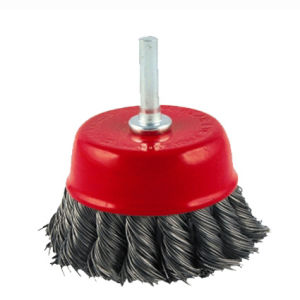 Shaft Cup Brush with High Quality (twisted knot wire)