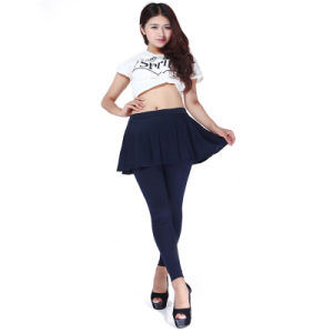 Winter Sweet False Two-Piece Pantskirt Women Legging with Skirts Slim Fit Style2