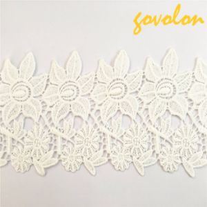 2017 New Arrival Cotton Lace Trimming with Flower pictures & photos