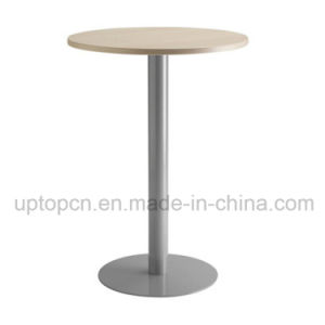 Modern Round High Bar Table Furniture with Cast Iron Legs (SP-BT658) pictures & photos