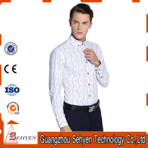 Top Quality 100% Cotton White Men Formal Business Dress Shirts pictures & photos