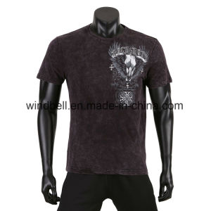 Soft T-Shirt for Men with Tie Dye pictures & photos