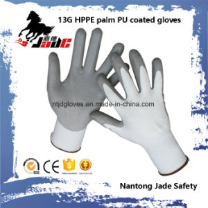 Hot Sales 13G Hppe PU Coated Cut Resistant Glove Level Grade 3 and 5 pictures & photos