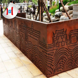 Wholesale Price Hot Rolled Rusted Garden Sculpture Corten Steel Plate