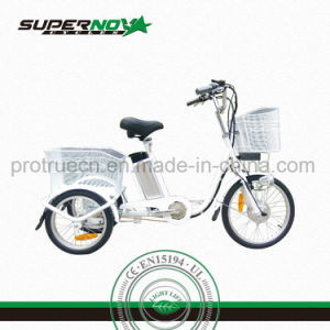 3 Wheel Electric Bicycle with Basket pictures & photos