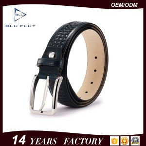 Top Grain Cowhide Genuine Leather Belt Braided Needlepoint Men Belt pictures & photos