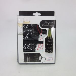 Reusable Wine Ice Freezer Pack in Black Color