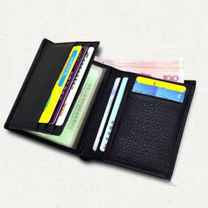 New Design Double Fold Male Men′s Leather Wallet pictures & photos