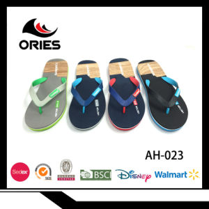 f7ba50b4afe79 High Quality Flipflops Two Colours PVC Strap and Assorted Colour Sole Shoes  for Man EVA Slippers