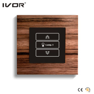 1 Gang Dimmer Switch in Wood Material Outline Frame (HR1000-WD-D1) pictures & photos