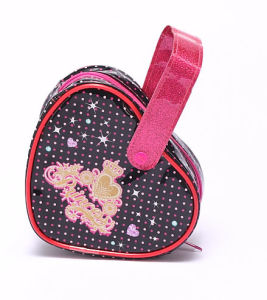 Heart Shape Kids Cosmetic Packing Bag Cute PVC Cosmetic Bag pictures & photos
