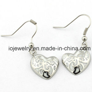 Jewelry Manufacturer Fashion Heart Silver Earring pictures & photos