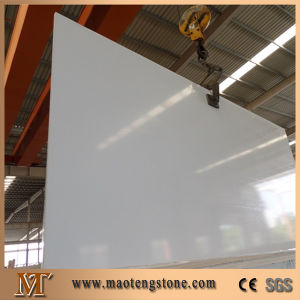 White Engineered Quartz Stone Slab for Tabletops, Countertops and Wall Cladding