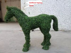 Artificial Topiary Horse Model for Theme Park Decoration