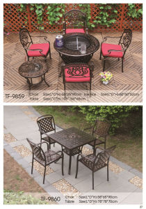 6-Piece Traditions Outdoor Cast Alumnium Fire Pit Table Set