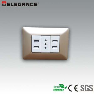 Ma-USB New New Design Italian Wall USB Socket pictures & photos