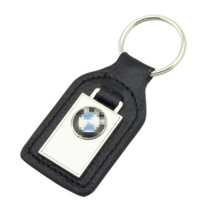 Promotion Metal PU Leather BMW Key Ring with Logo (F3049)