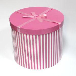 China Pink Round Hat Box Gift Box Packing Box With Ribbon China
