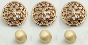 2014 Charming Carved Metal Button for Decoration