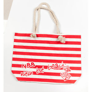 Promotional Custom Logo Imprint Mixed Color Cotton Shopping Tote Canvas Beach Bag with Front Pocket