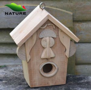 White Wood Handmade Bird House for Outside