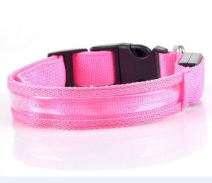 Fast Delivery Lumious Pet Dog Collar with Transparent Binding