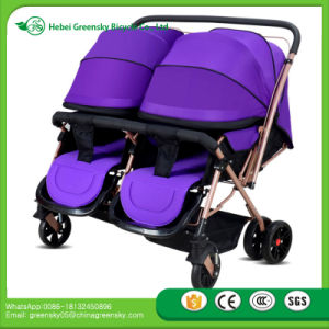 Alibaba China Manufacturer Wholesale Cheap Price Easy Foldable Twin Baby Stroller Made in China pictures & photos