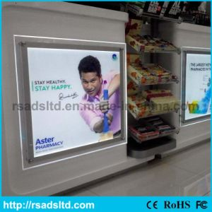Acrylic Slim Crystal Advertising Light Box with Ce Approved