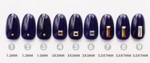 Nail Art Decoration New Punk Style Metal Color Shiny Gold &Silver