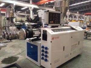 Sjsz65 Conical Twin Screw Plastic Extruder pictures & photos
