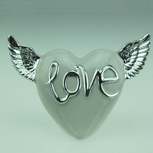 Lover Heart Shape Ceramic Valentine Day Decoration pictures & photos